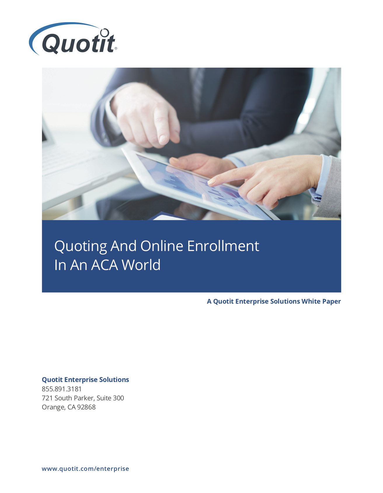 Quoting and Online Enrollment In An ACA World (cover)